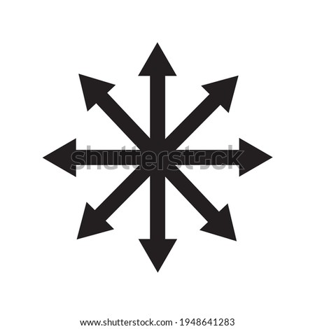 Symbol of Chaos vector isolated on white background. A symbol originating from The Eternal Champion Сток-фото ©