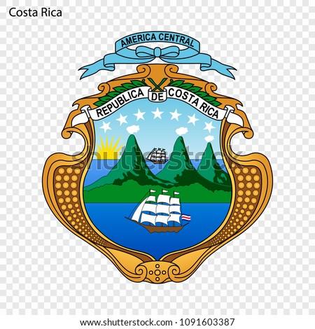 Symbol of Costa Rica. National emblem