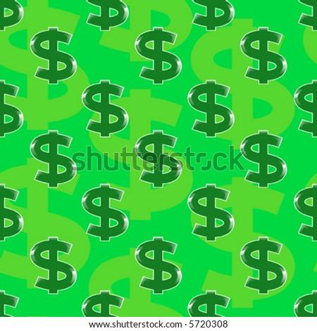 symbol of dollar - seamless vector wallpaper