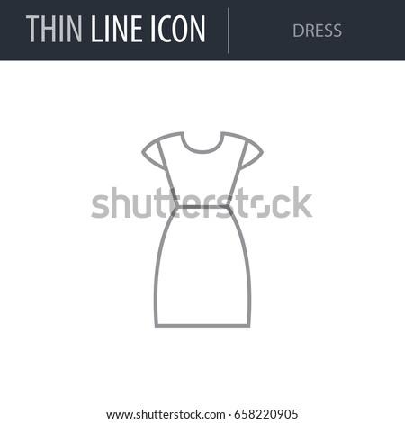 symbol of dress thin line icon
