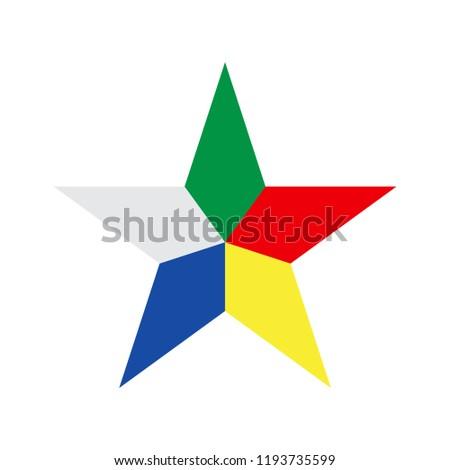 Symbol of Druze. Vector illustration. Сток-фото ©
