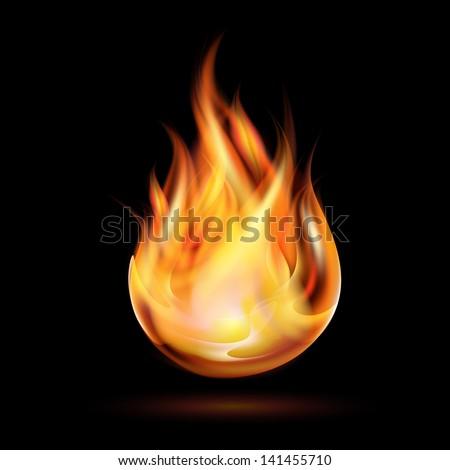 symbol of fire on dark...