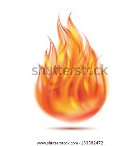 symbol of fire on white