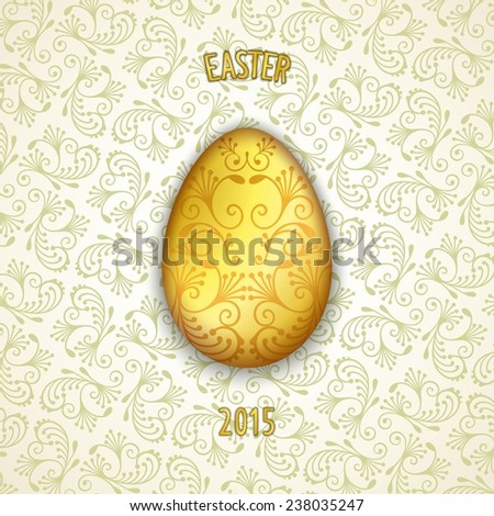 Symbol of holiday easter 3D luxury gold egg