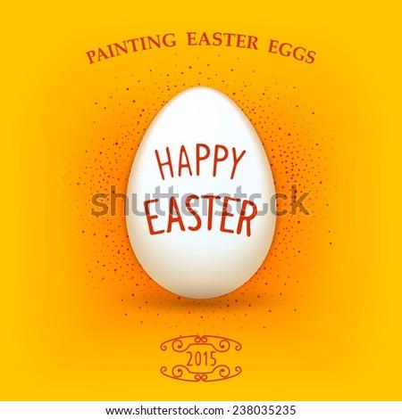 Symbol of holiday easter white egg