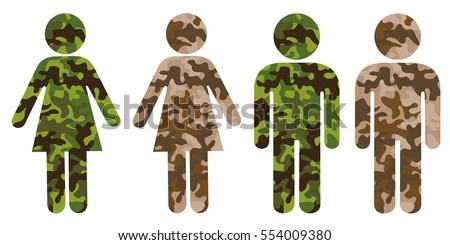 symbol of man or woman as