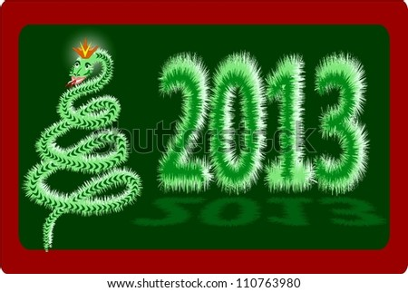 Symbol of New year - the Snake with a crown on the head, 2013.