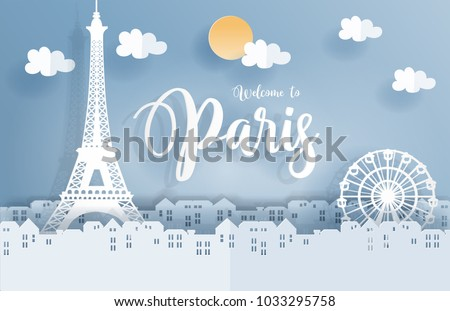 symbol of paris in paper cute