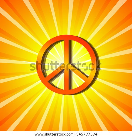 symbol of peace shining vector