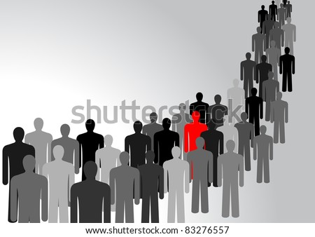 Symbol of peoples, representing the crowd - stock vector
