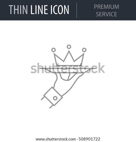 symbol of premium service thin