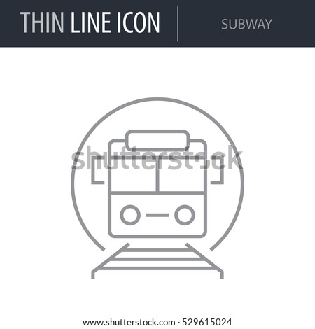 symbol of subway thin line