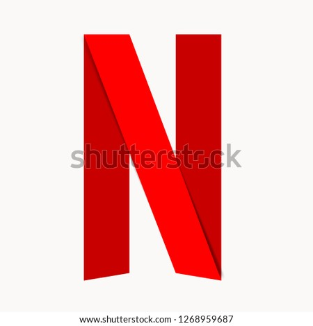 Symbol of the American company NETFLIX. Vector illustration. EPS 10.