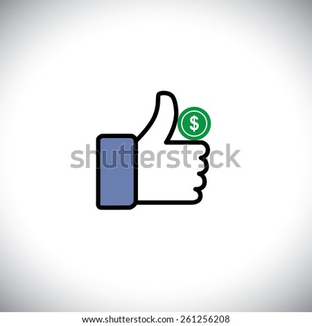 symbol of thumbs up hand with