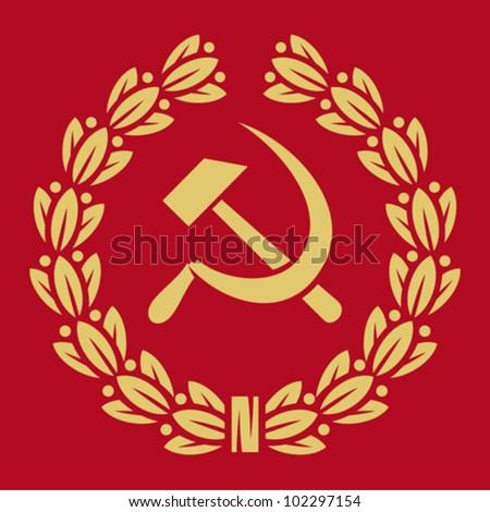 symbol of ussr   hammer  sickle