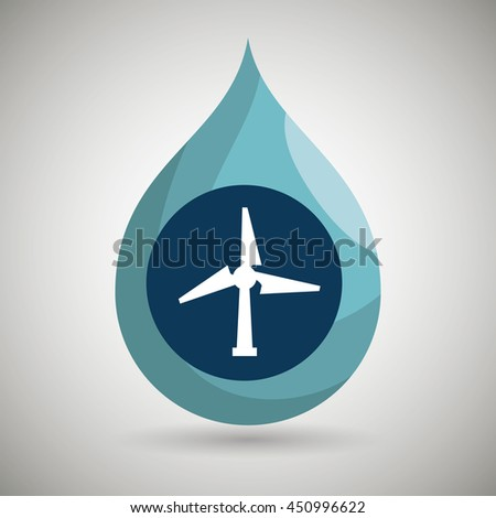 symbol of windmill isolated
