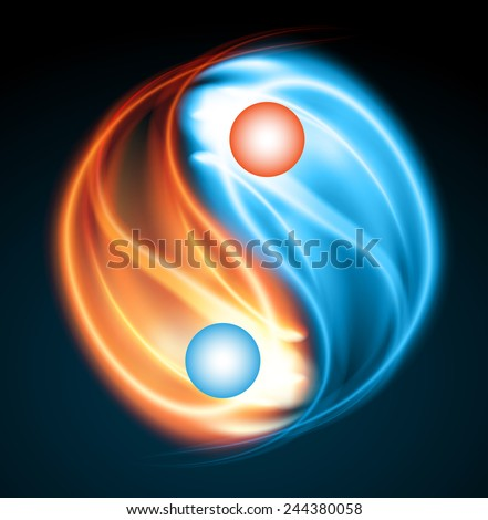 Royalty Free Symbol Of Yin And Yang Fire Water 250284499 Stock
