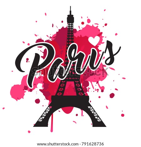 symbol paris fashion print for