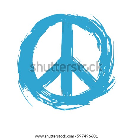 Symbol Peace drawn by hand. Vector illustration.
