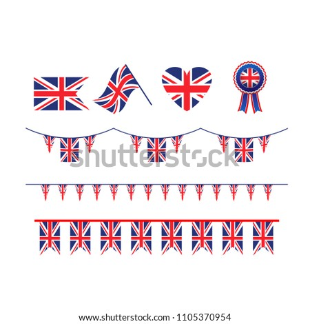 Symbol Union Jack flag #1105370954