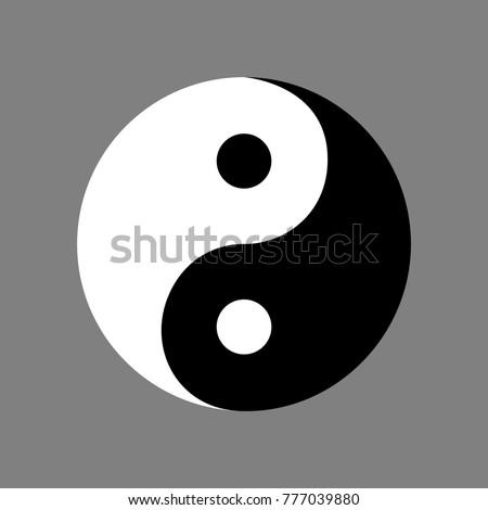 symbol yin yang sign without