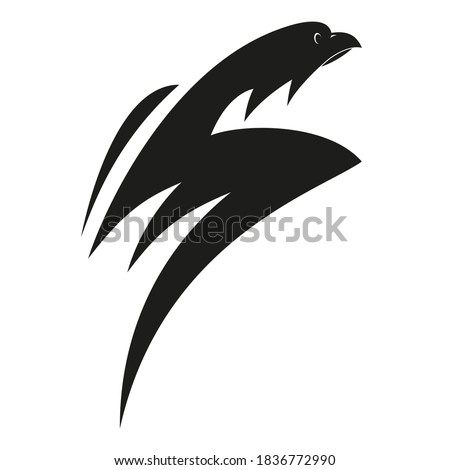 Symbolic image of a bird of prey, shaped like the letter S. Stock fotó ©