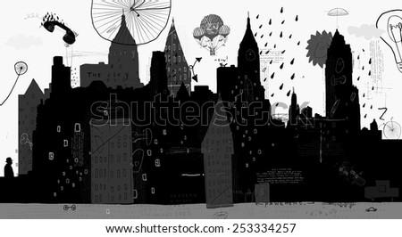 symbolic image of a megacity
