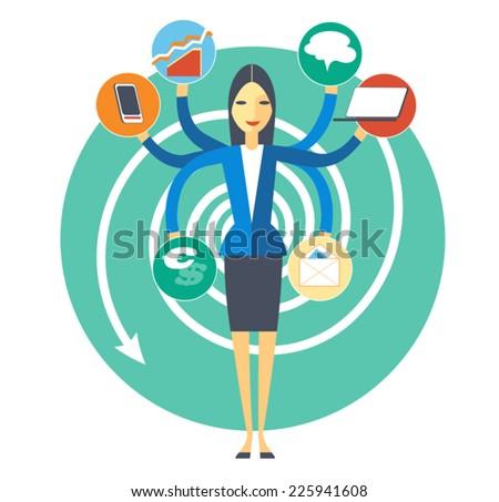 Symbolic image of plenty duties office secretary