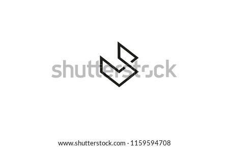 symbolic V S , multipurpose abstract shape with white background color color Stock fotó ©