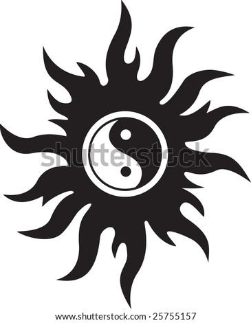 sun tattoo. New Ying Yang Tattoo Designs