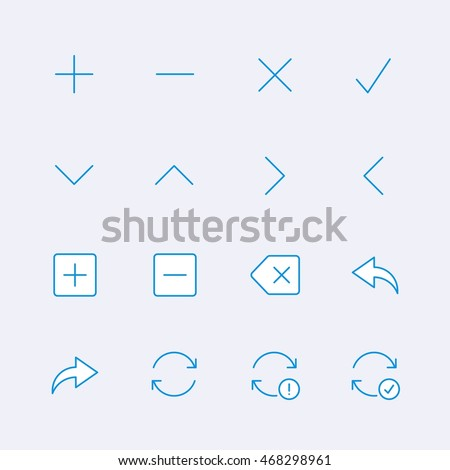 Symbols and arrows icons