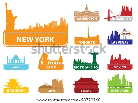 symbols city vector
