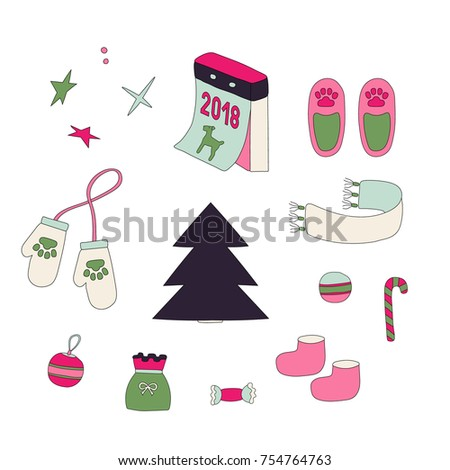 symbols of christmas and year