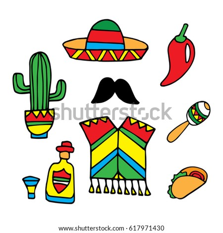 Royalty Free Mexico Travel Banner With Icons 468723035 Stock