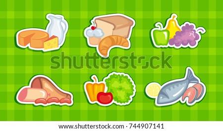 symbols of vegetables  fruit