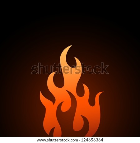 Symbols red fire on white background vector