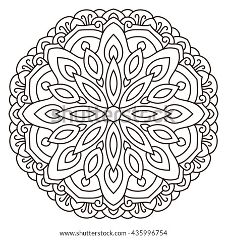 Symmetrical Circular Pattern Mandala Coloring Page For Adults - Circle-pattern-coloring-pages