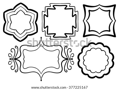symmetrical frames vector set
