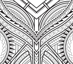 symmetrical pattern of maori tattoo design