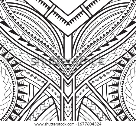 symmetrical pattern of maori tattoo design