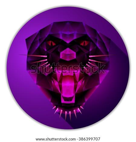 symmetrical vector icon of a
