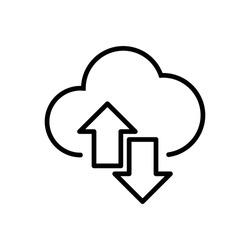 Synchronization icon in black color