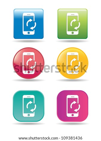 Synchronize mobile phone icons