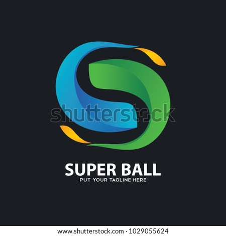 synergy for s logo icon vector