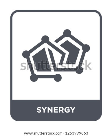 synergy icon vector on white background, synergy trendy filled icons from Geometric figure collection, synergy simple element illustration