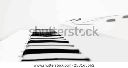 synthesizer piano keys, vector music abstract background