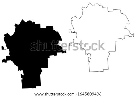 Syracuse City, New York (United States cities, United States of America, usa city) map vector illustration, scribble sketch City of Syracuse map