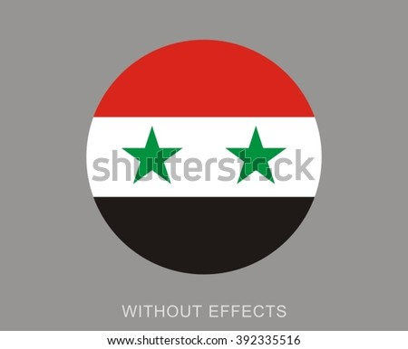 syria circle flag without