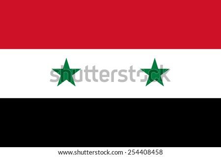 Syria flag Stockfoto ©
