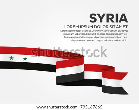 syria flag background